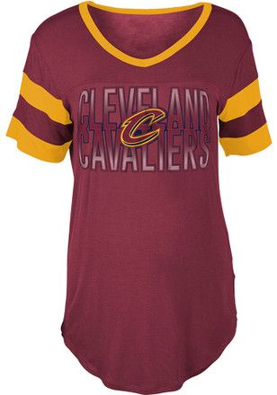 Cleveland Cavaliers Womens Red Training Camp T-Shirt  25917375b9