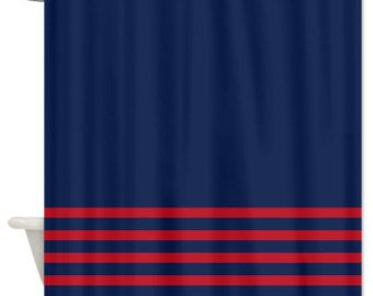Red And Navy Shower Curtain. Exceptional Striped Shower Curtain Navy Blue W Brick Red Stripes Customize  Colors Standard And Home Design Ideas and Pictures