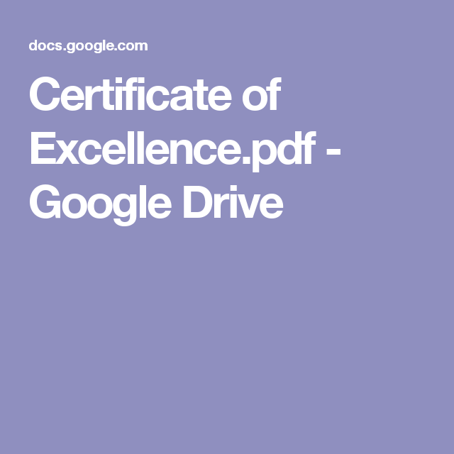 Certificate of Excellence.pdf - Google Drive