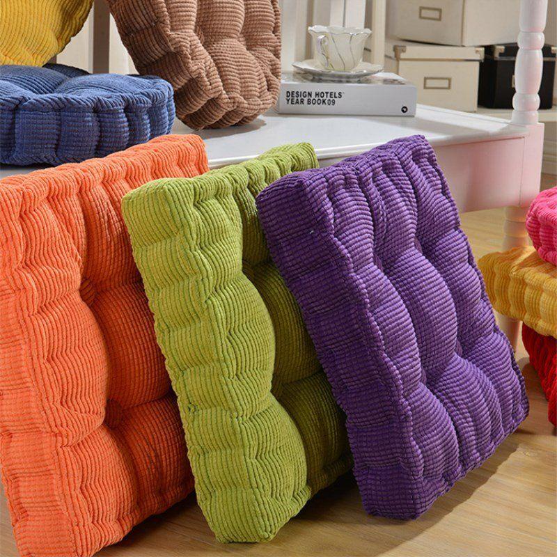 40 45 50cm Washable Corduroy Tatami Floor Seat Cushion Square