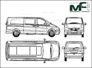 Mercedes-Benz Vito, to mix, extra long version, one