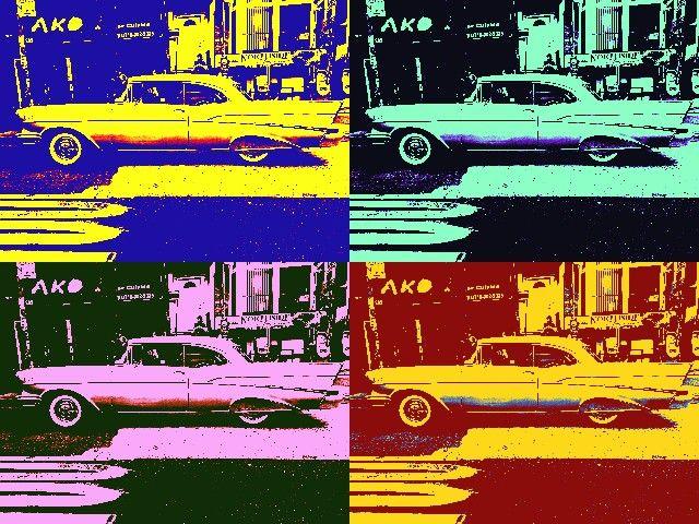 Chevy Bel Air pop art