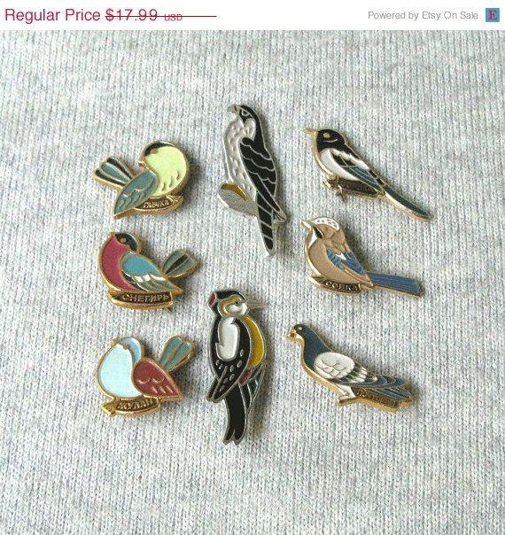 641c02b17 20% OFF Vintage Birds Pins, Bird Lapel Pin, Birds Charms, Birds Pin Brooch,  Small Metal Birds