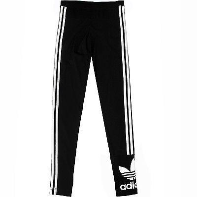 Adidas 3 Stripes Leggings Womens AB2067 Black White Tight Pants Wmns Size M