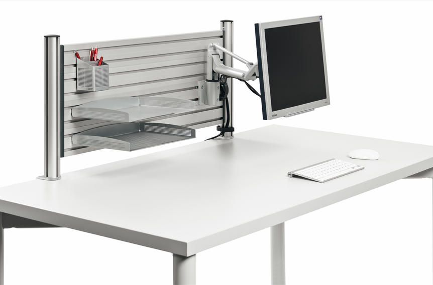 Desk Accessories Ergonomic Desktop Slat Wall Setup