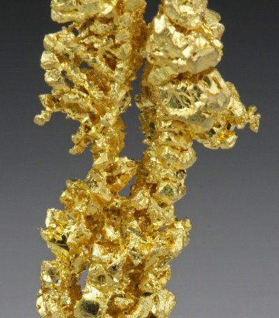 Native Gold   Specimen #Tu090513  Round Mountain Mine  Nye County  Nevada  1.8 x 0.9 x 0
