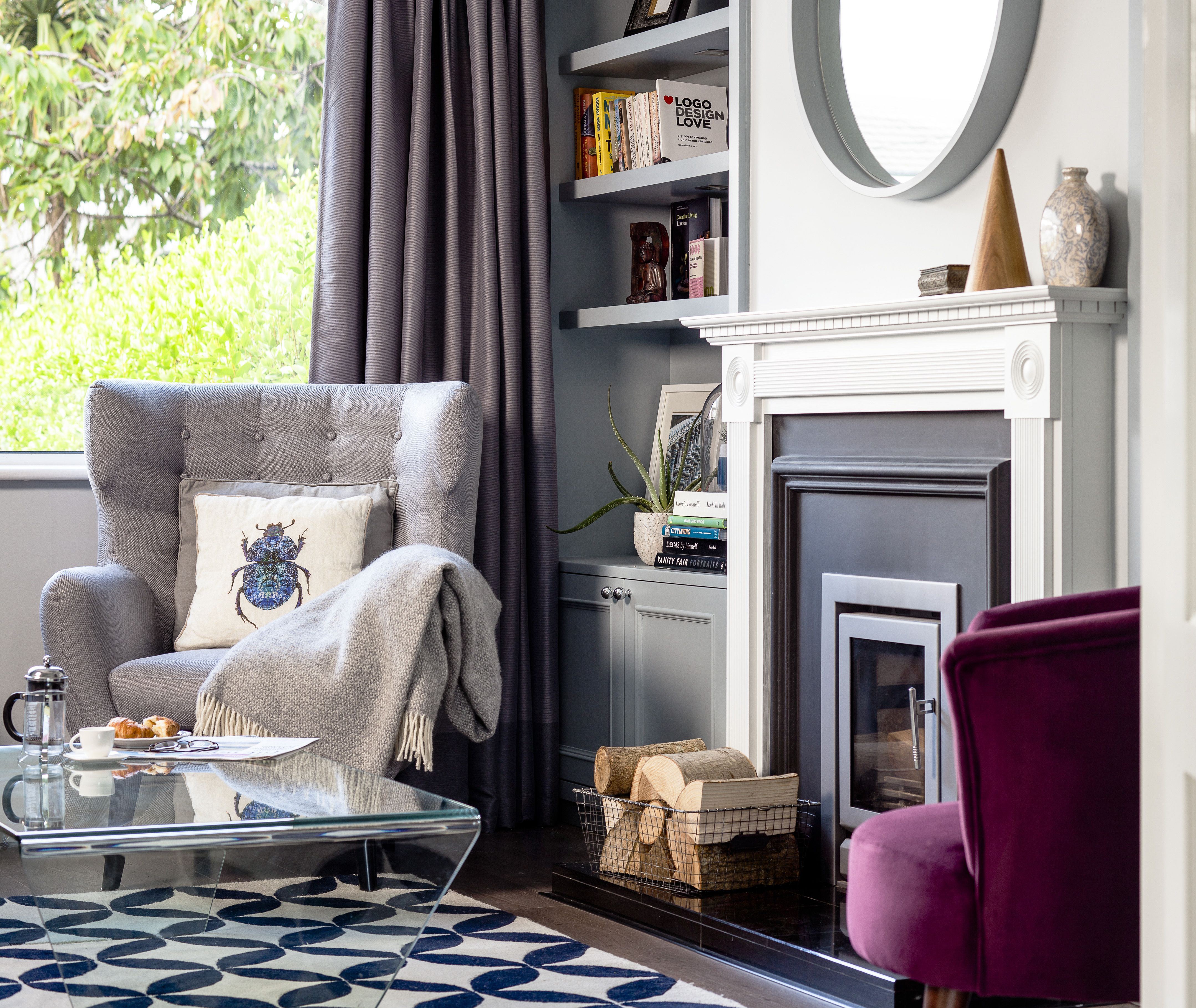 Bright and airy small living room by Kingston Lafferty Design. www ...
