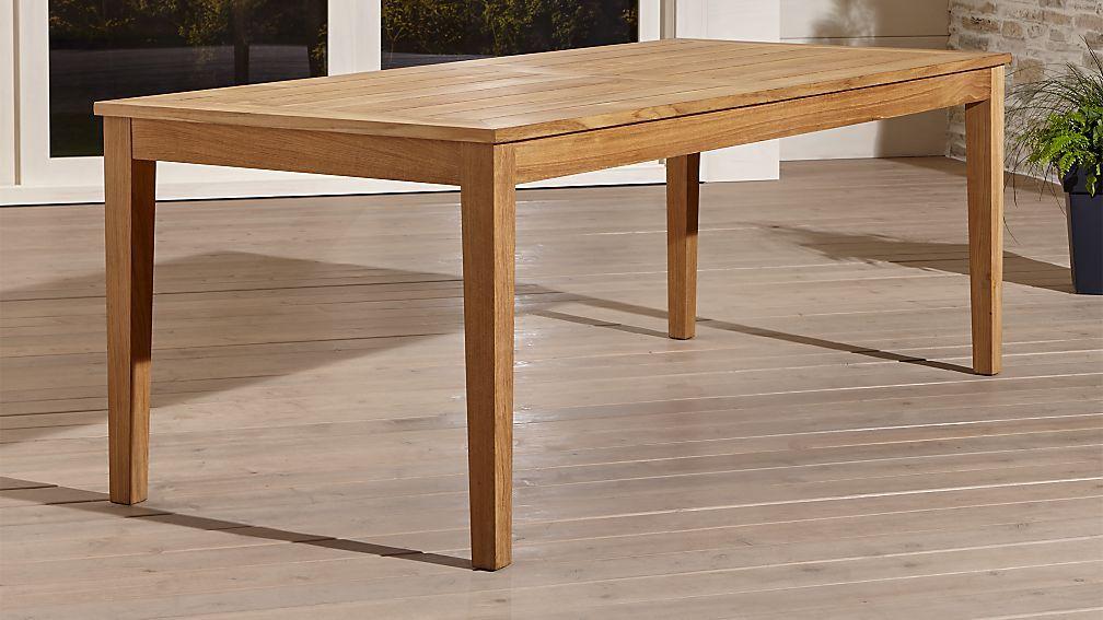 Regatta Rectangular Dining Table   Crate And Barrel