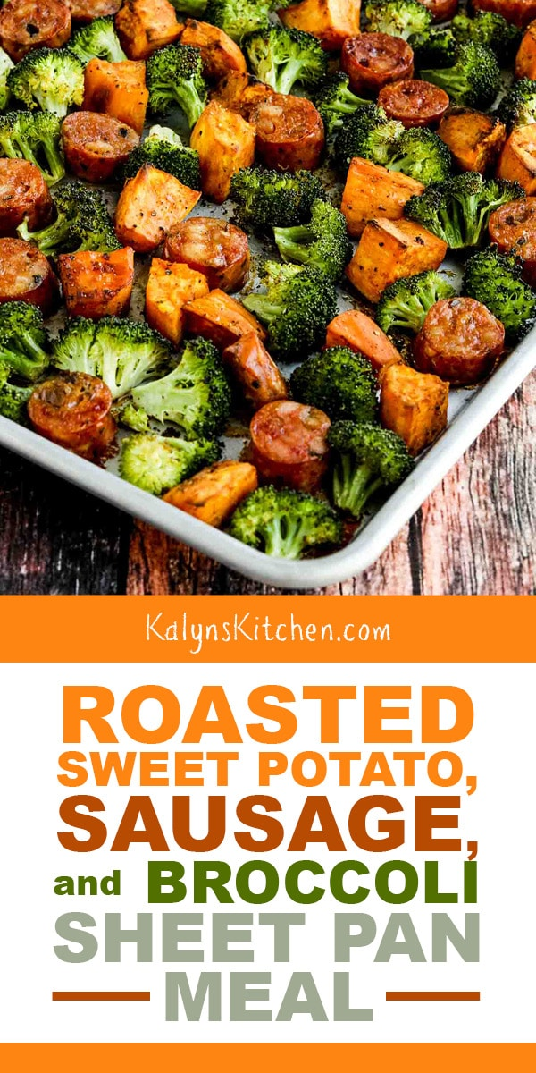 Roasted Sweet Potatoes, Sausage, and Broccoli Sheet Pan Meal – Kalyn's Kitchen