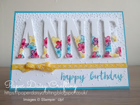 Paper Daisy Crafting: Stampin' Up! Large Letters birthday card