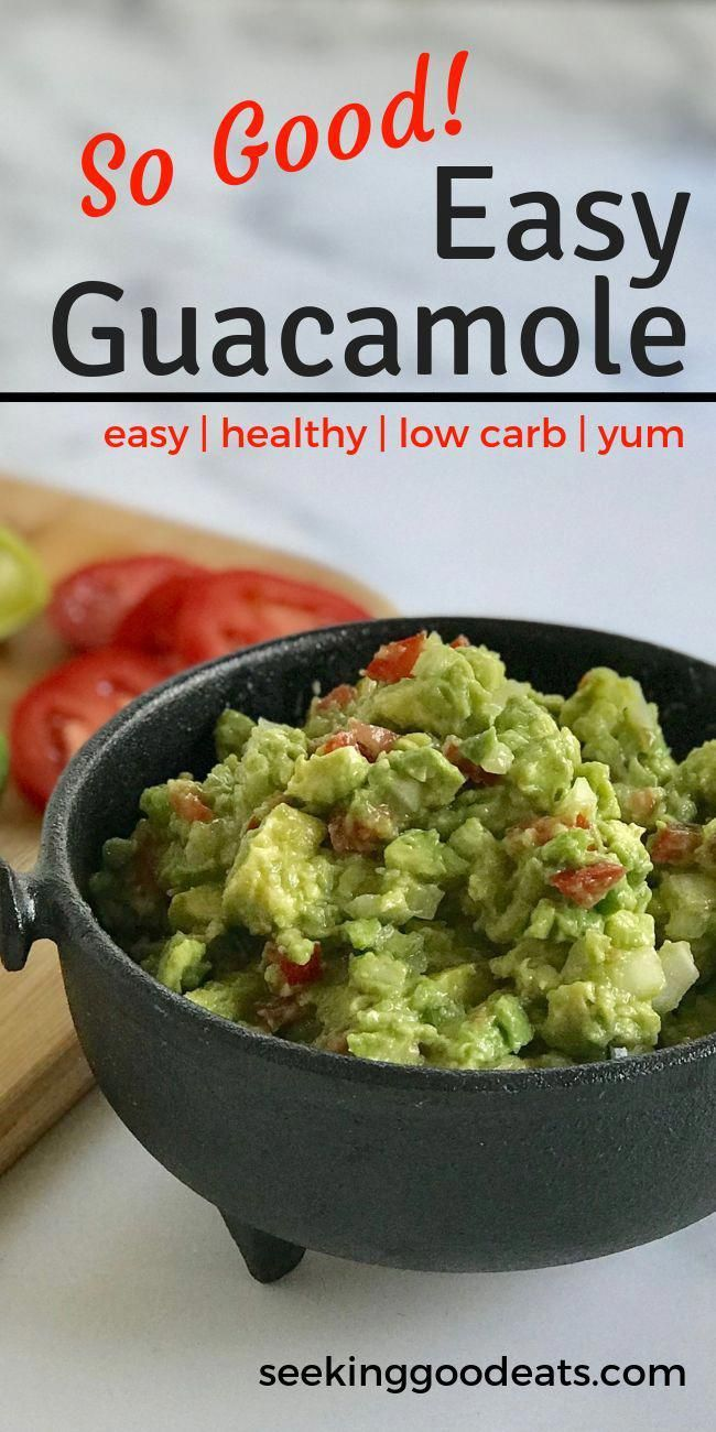 Guacamole is an easy healthy snack to make! This healthy guacamole recipe makes a great appetizer t
