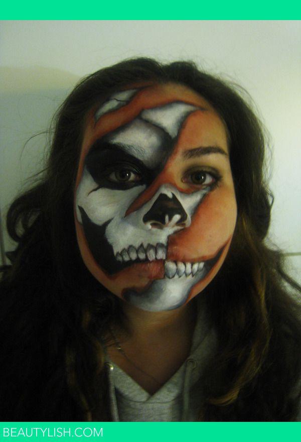 Skeleton Face Paint Jules S\u0027s Photo Beautylish Make ups - halloween face paint ideas scary