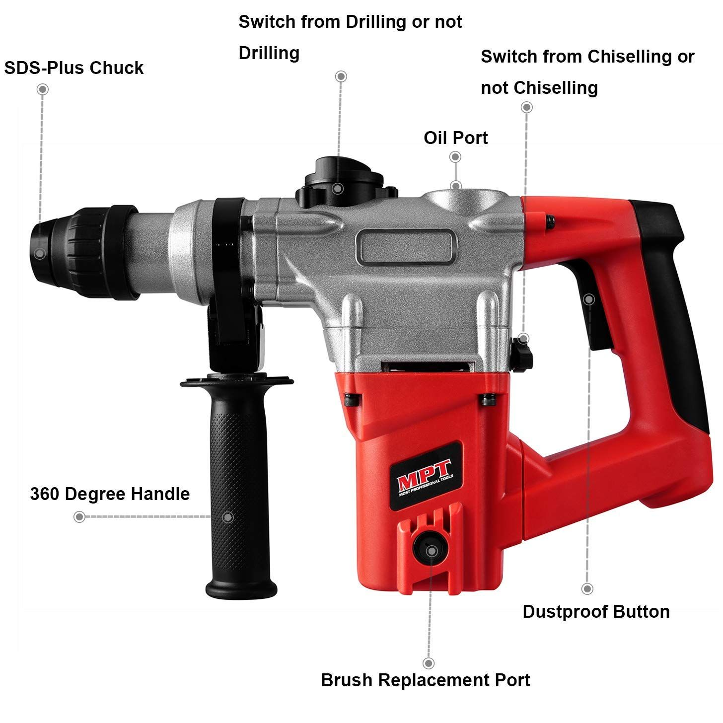 rotery hammer drill tile removal