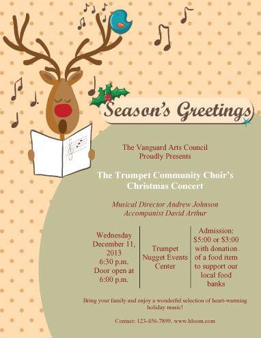 Community Concert Program Classroom Pinterest Christmas - free printable christmas flyers templates