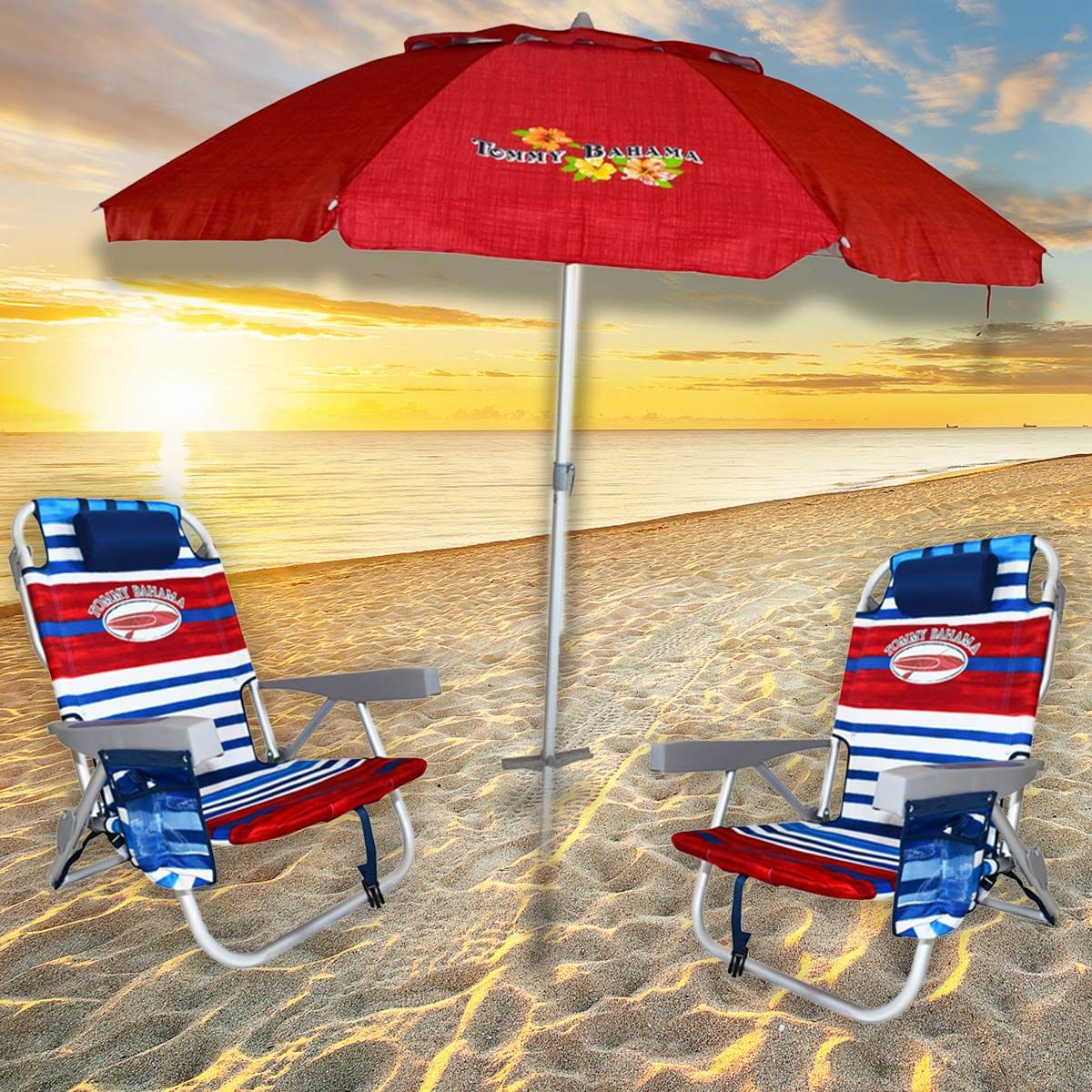 Enter to win Tommy Bahama beach chairs and umbrella ($170