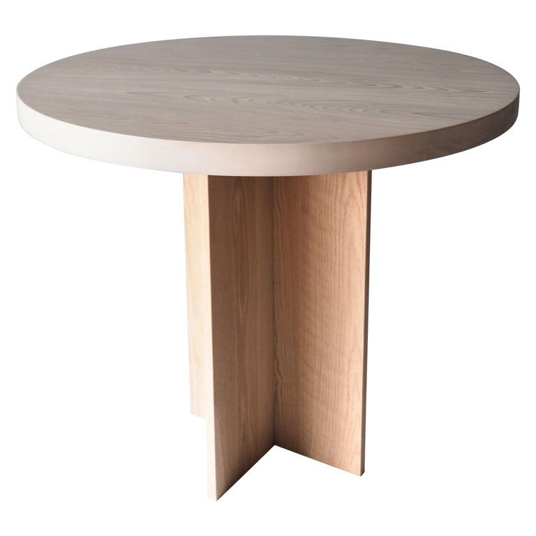 Oak And Beech Round Pedestal Dining Or Entry Table By Msj Furniture In 2020 Pedestal Dining Table Modern Dining Room Tables French Dining Tables