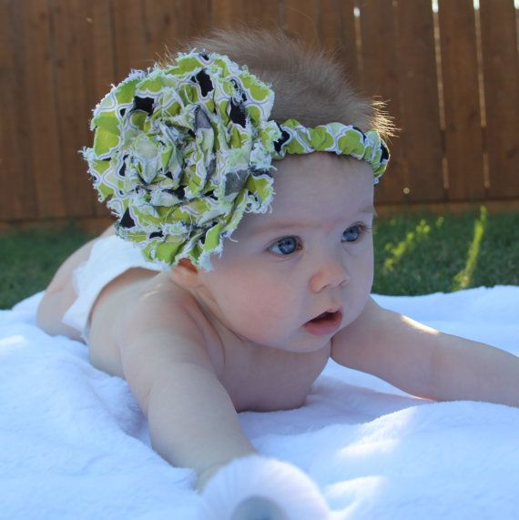 Fabric Flower Headband by mylittemookie on Etsy, $8.00