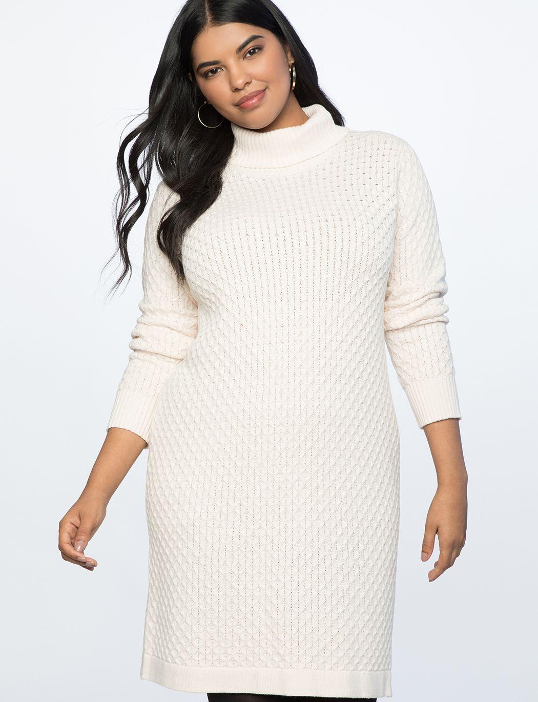 Honeycomb Turtleneck Sweater Dress Women S Plus Size Dresses Eloquii Sweater Dress Women Sweater Dress Plus Size Dresses