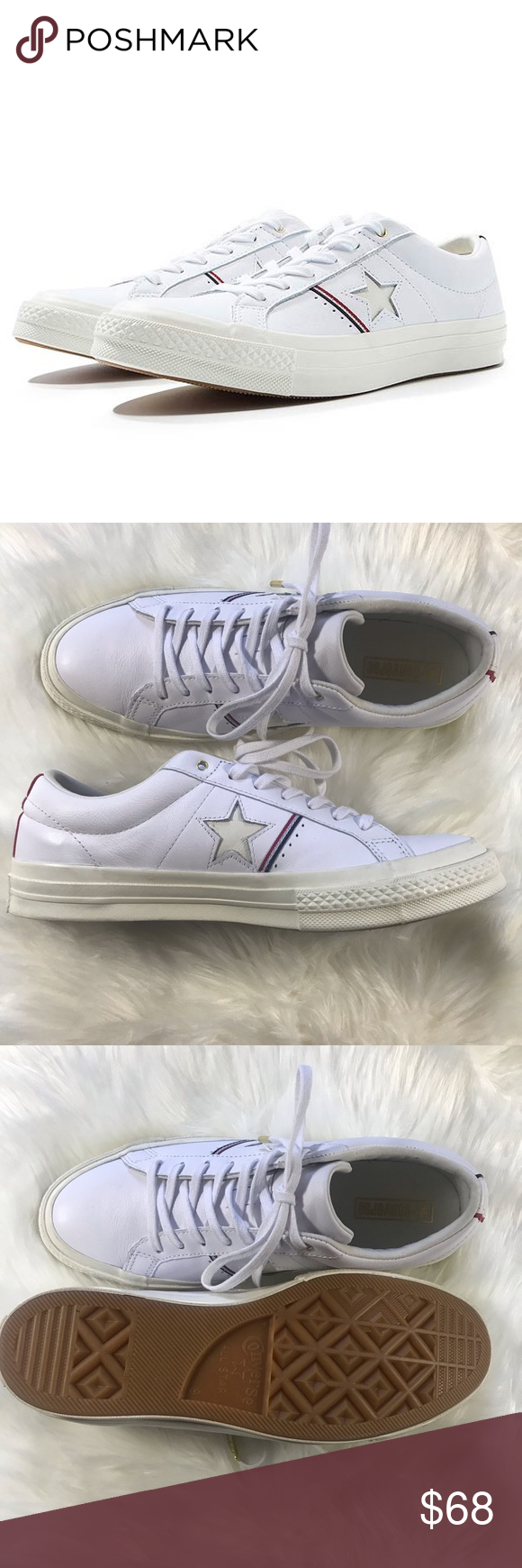 552013722953 Converse One Star White Leather OX Shoes sz 9 Brand new without box unisex Converse  One