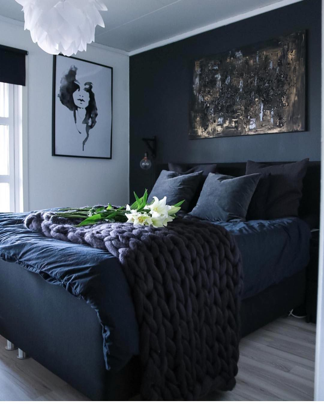 Pin By C Marie On Sleeping Quarters Navy Blue Bedrooms