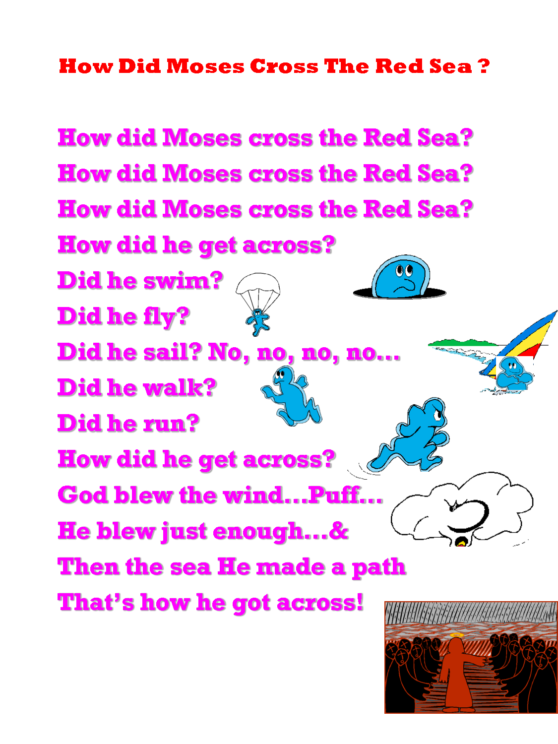 Moses Crosses The Red Sea Song
