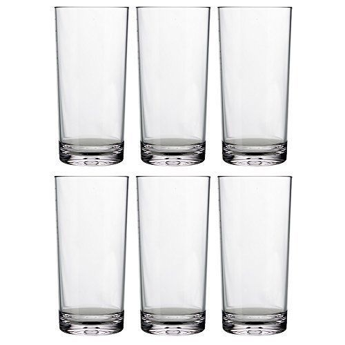 093409cf9d6 6 24 Oz BPA Free Dishwasher Safe Durable Acrylic Plastic Tumblers Glasses  Clear