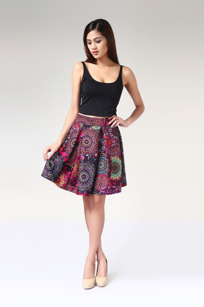 Buy Pleated Full Skirt from Topmanila Clothing (DONNA PRINT PATTERN) at Takatack. Pay via Cash on Delivery. Look, Find & Buy.
