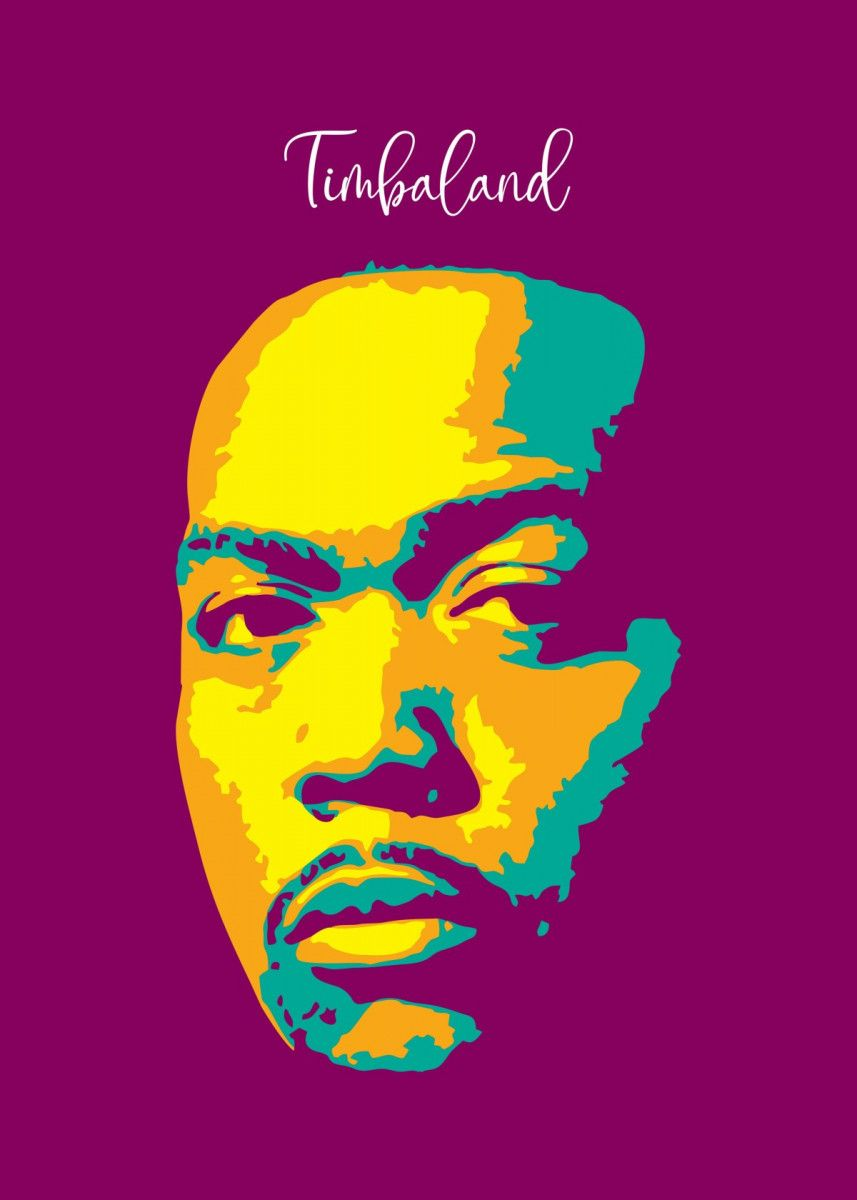 Timbaland Pop Art Music Poster Print Metal Posters In 2020