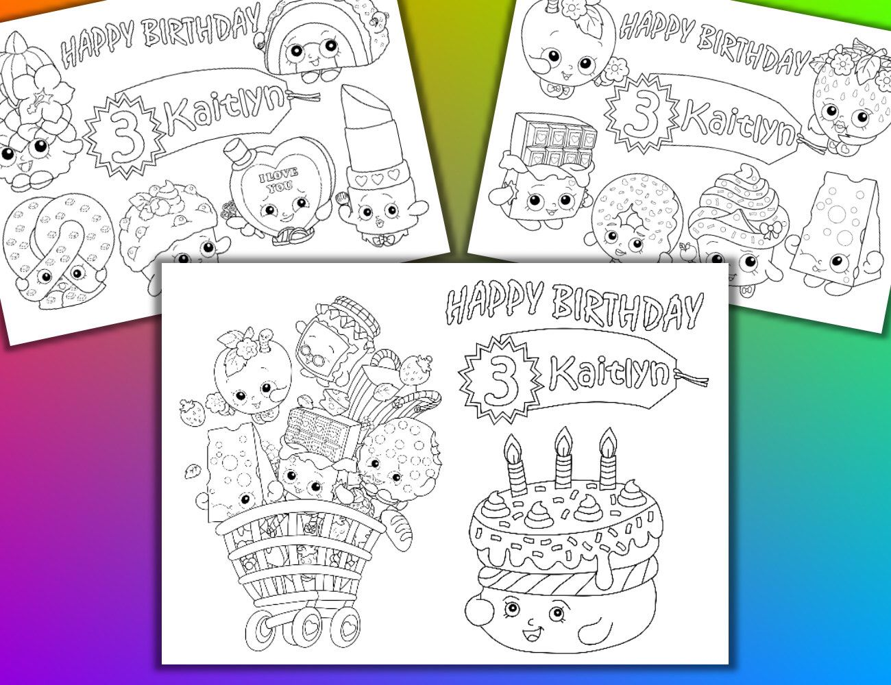 Shopkins Birthday Party Favor, Shopkins coloring pages