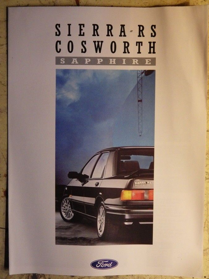 Ford Sierra Rs Cosworth Sapphire Brochure  Old Car Brochures