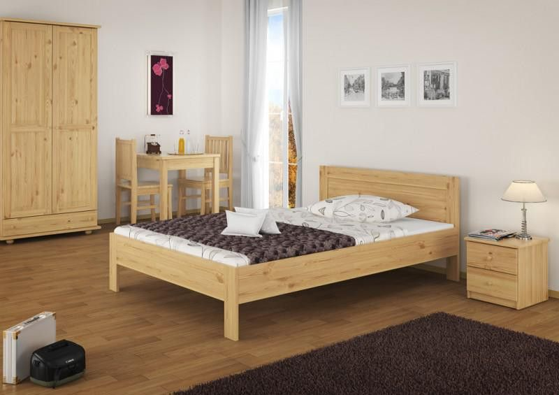 P 548a4bd9706bc 493fc C2 1 Doppelbett Franzoesisches Bett 140x200 Massivholz Kiefer Bettgestell Ohne Zubehoer 60 68 14 Or