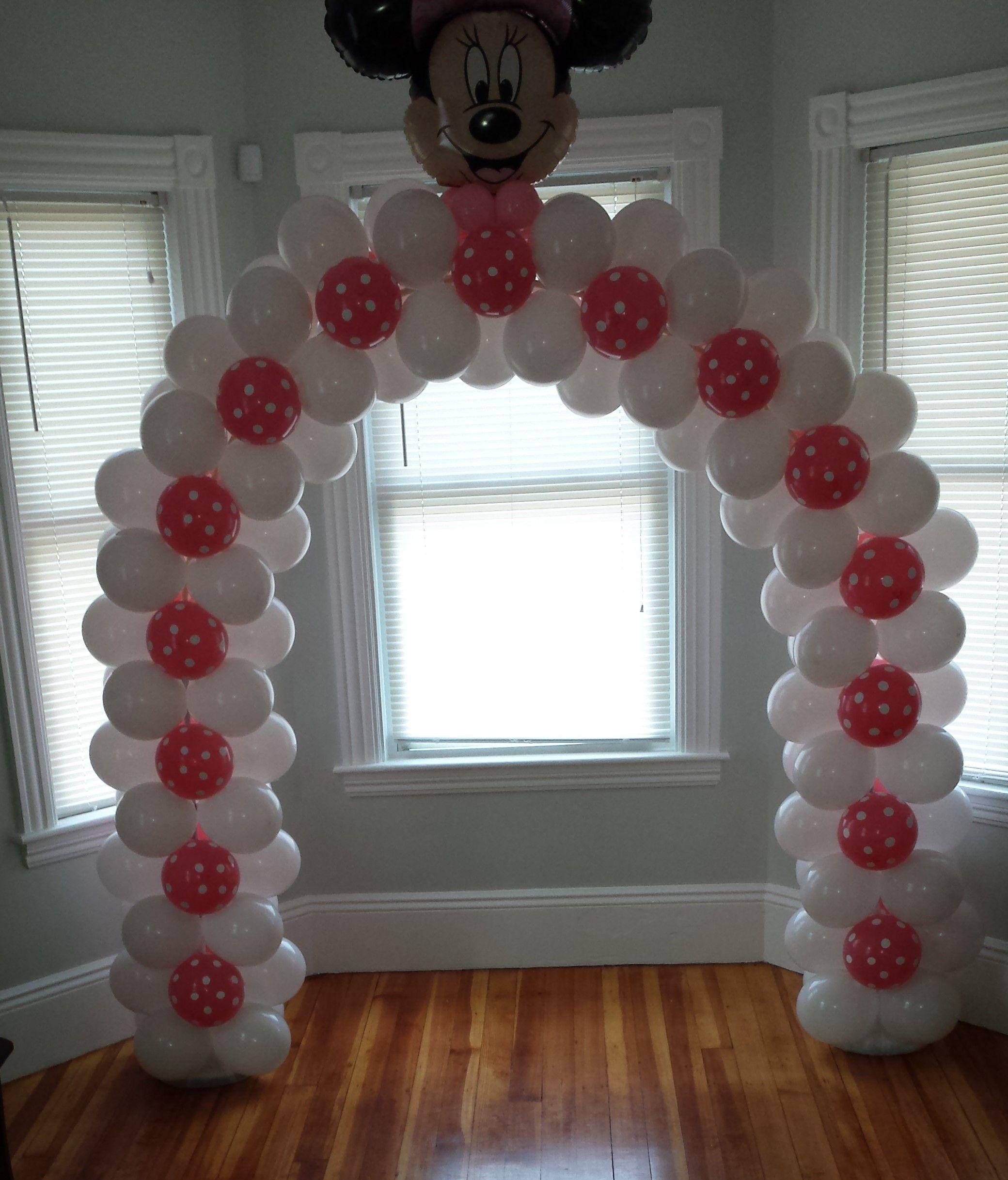 Arco de Minnie Mouse Globos del 9