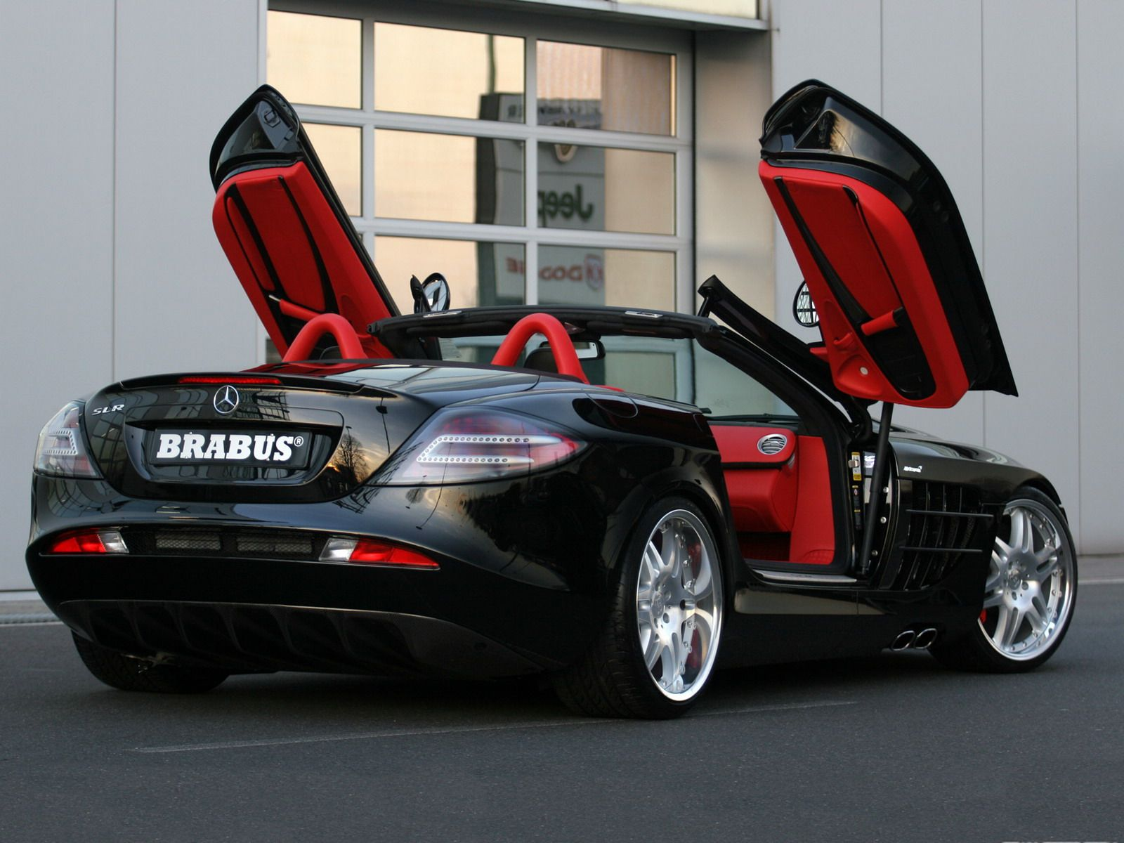 Black Custom Mercedes Mclaren Roadster Slr By Brabus Simply