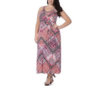 f3fdb60f341 In The Mix Womens Plus-Size Fashion Maxi Dress With Self-Tie At ...