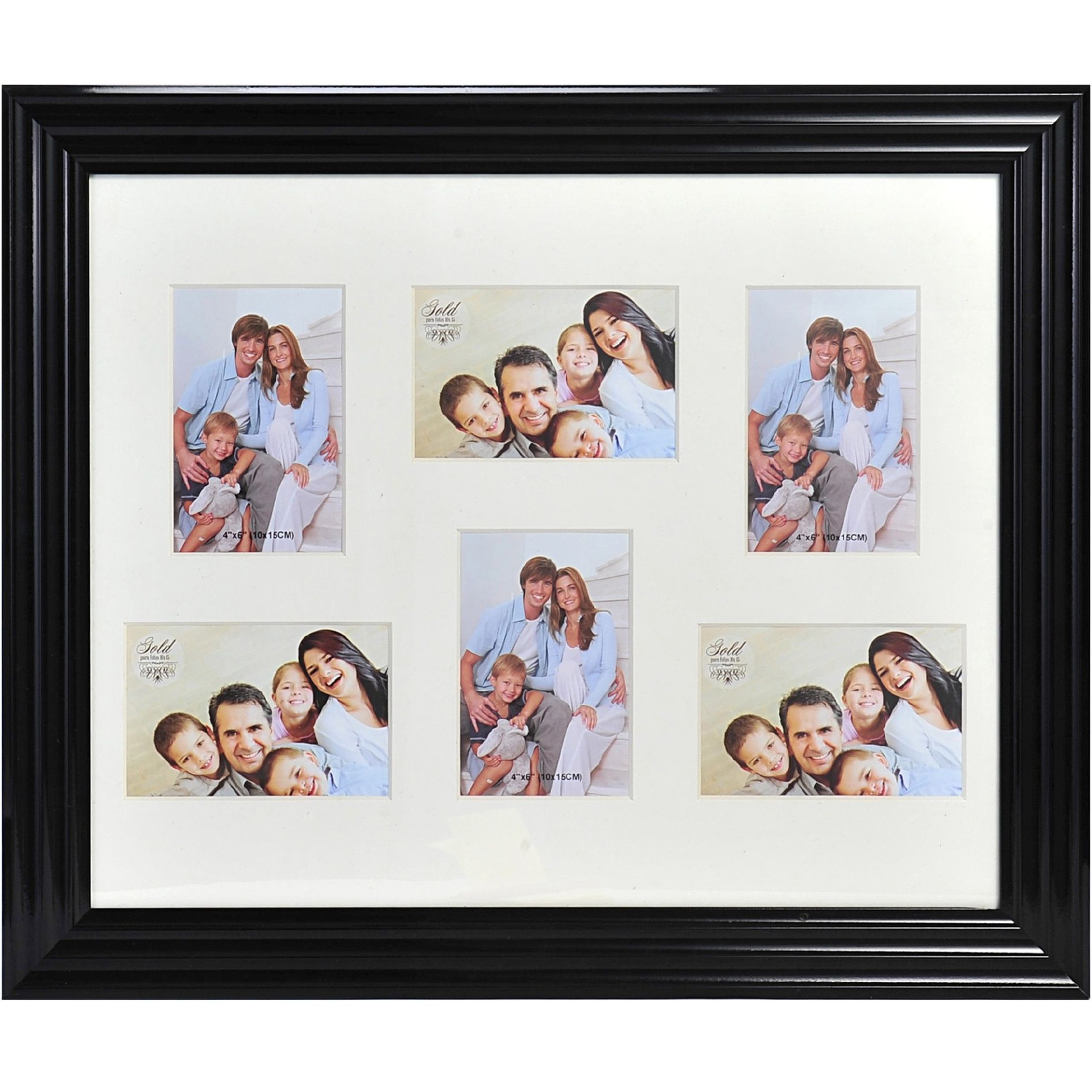 Melannco Black Frame Portrait Collage (Melannco 6 Opening Ps ...