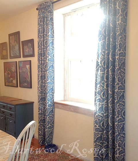 Dining Room Drapes Fabric Is Waverlys Tucker Resist In Indigo It Looks