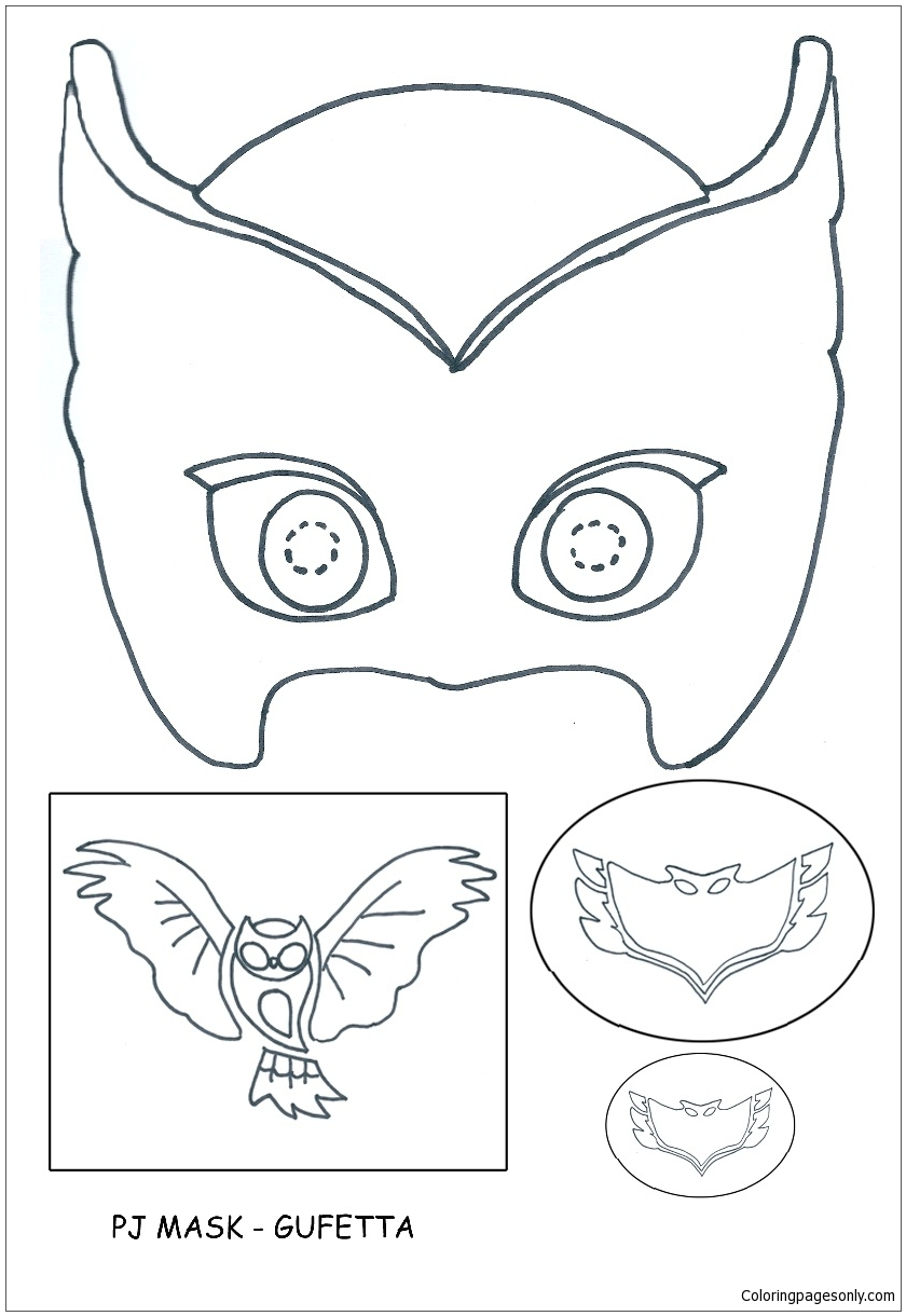 pj masks - gufetta coloring page - free coloring pages