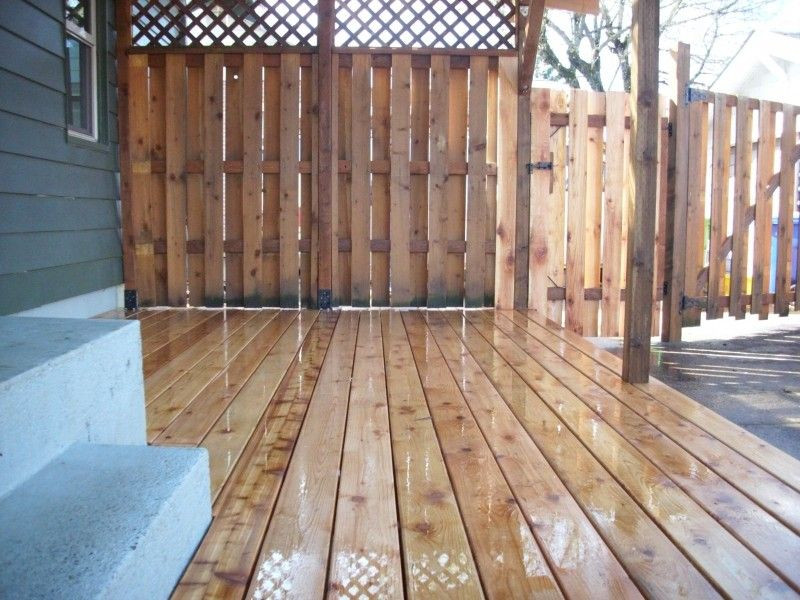 Outdoor Patio Privacy Screen Ideas Cedar Deck W Polycarbonate Cover And Recycled Gates