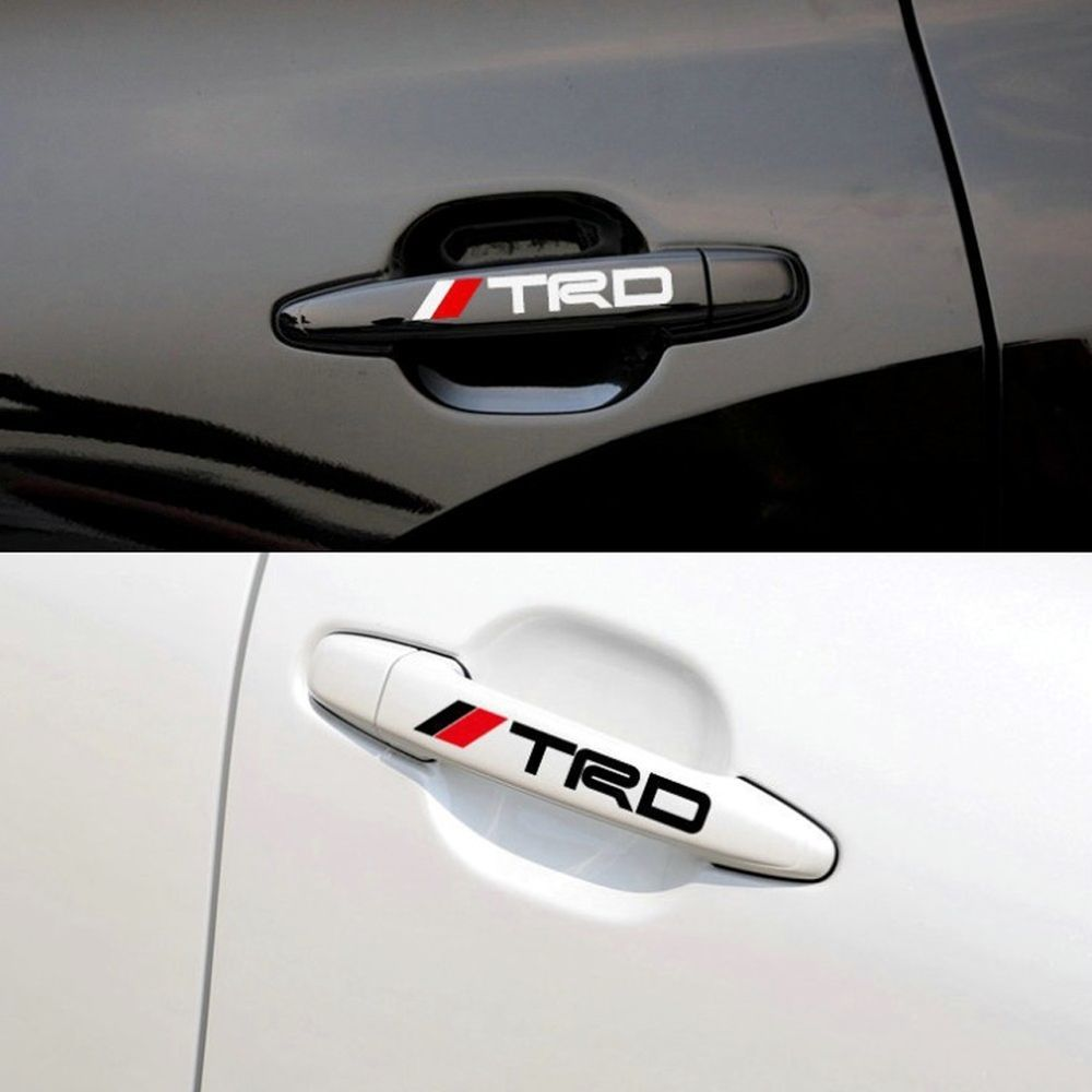 High Quality Car Sticker Vinyl Door Handle Decal TRD Racing Logo - Cool car decals designcar styling dream racing design cool car refit vinyl stickers and