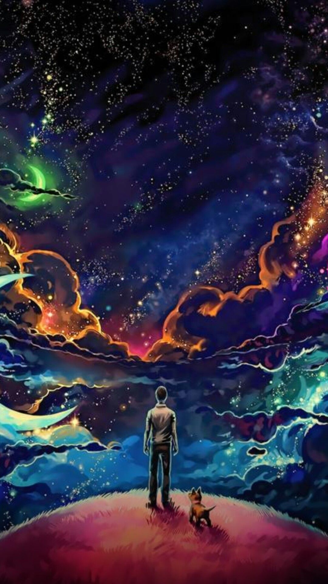 Pin By Bme Fonseca Bruno On Space Art Galaxy Wallpaper Man And Dog Art Wallpaper