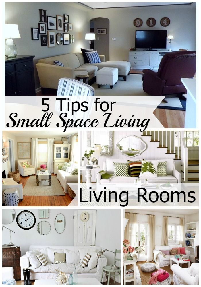 5 creative and useful tips for living with a small spaced living