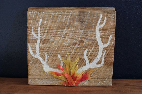 Fall Antler Handmade Sign by mkecraft on Etsy