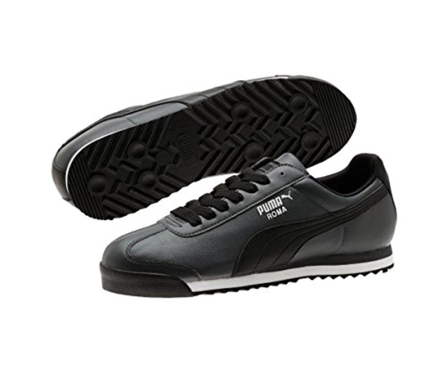 b1c8219c406 PUMA Men s Roma Basic Dark Shadow Black White Sneaker 7 D (M) - Brought to  you by Avarsha.com