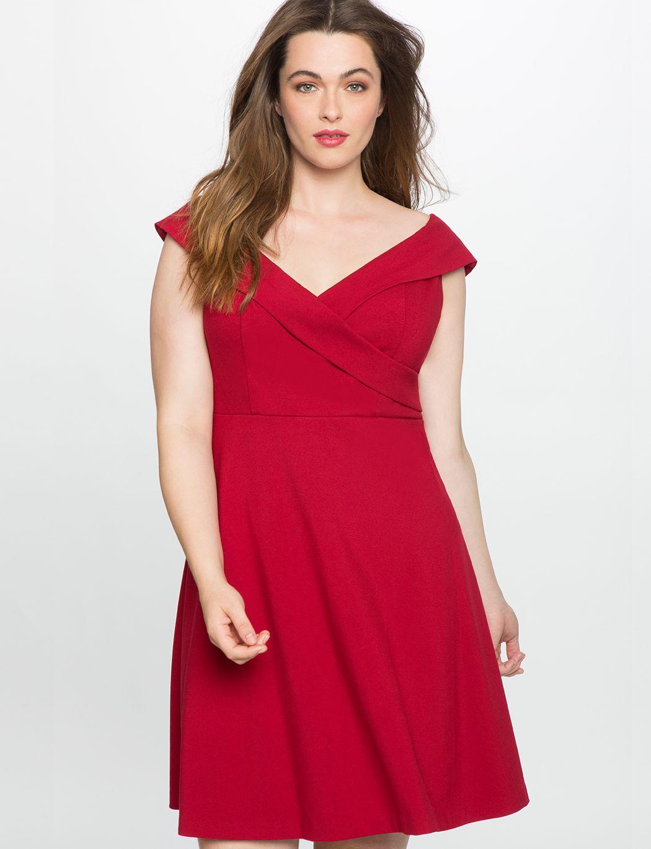 269cc081e1b Off the Shoulder Wrap Waist Dress