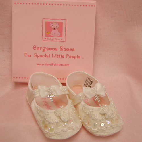 Baby girl shoes, Girl christening