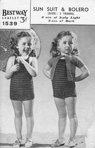 Vintage Knitting Pattern For Baby Swim Suit Swimming Pinterest