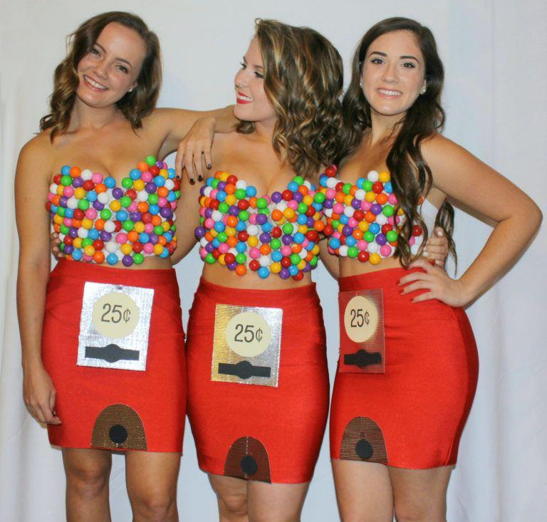 bubblegumfull Gumball machine costume, Two people