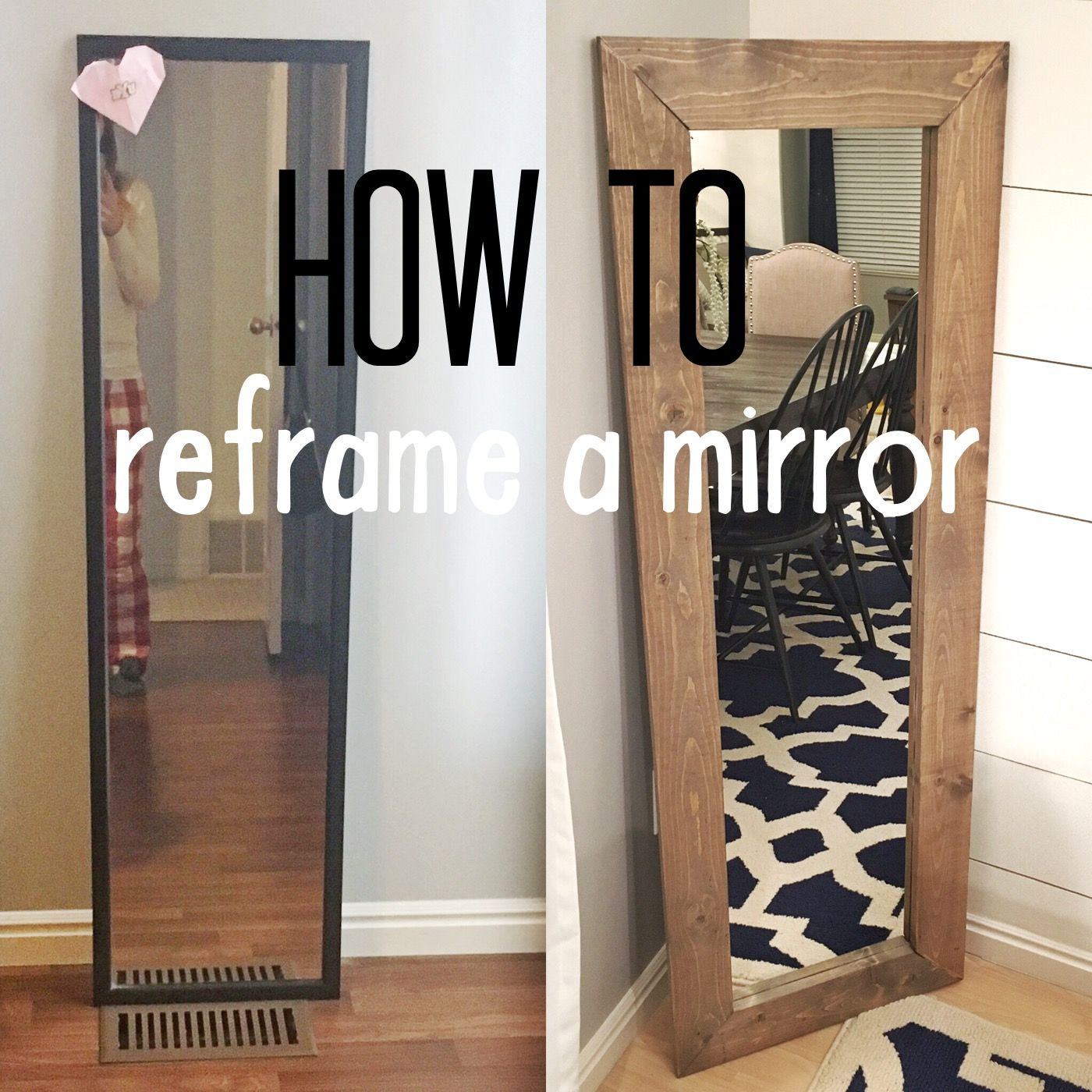 How To Reframe A Mirror Frame Diy Home Projects