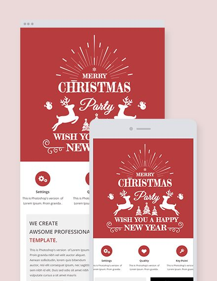free simple christmas email newsletter christmas designs