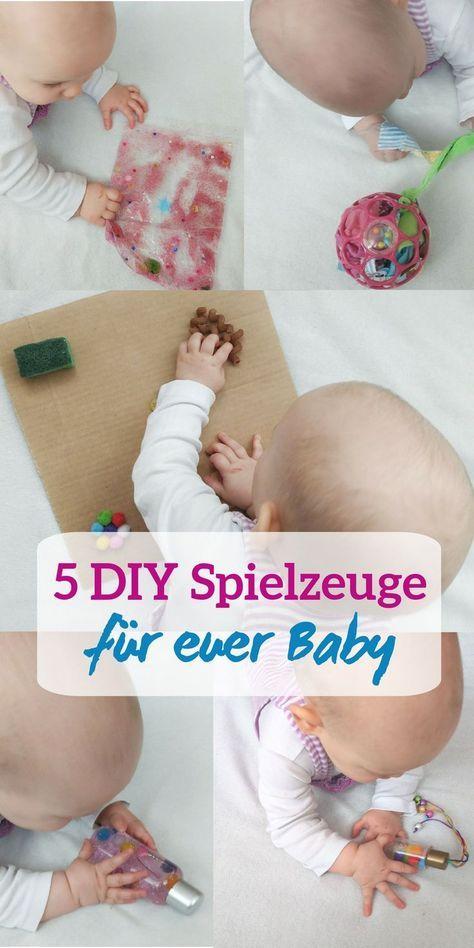 Fünf kreative selbstgemachte Spielzeuge mit denen sich euer Baby beschäftigen kann - Ideen für Aktivitäten zum fördern von Sensorik und Feinmotorik, tolle Beschäftigungsmöglichkeiten für Babys im Alter von 6-12 Monaten